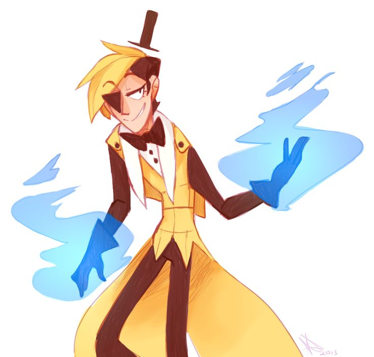 just west of weird>>>Humanized Dapper Bill Cipher by unknown