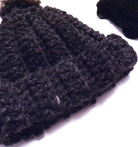 a0b6c30db38 Thick Ribbed Beanie Boys or Men ready to ship