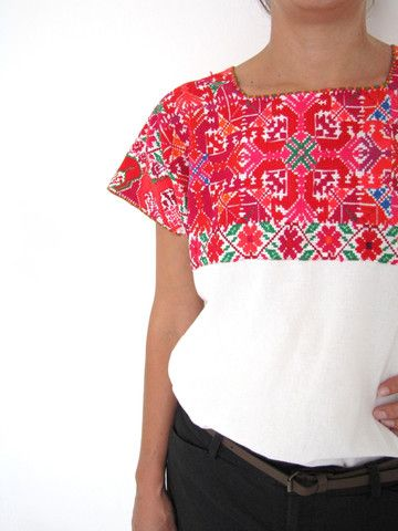 El Bosque Blouse | Pink | Hand Embroidery | Chiapas Bazaar | Handmade Mexican Blouses, Accessories & Home Decor from Rural Artisans