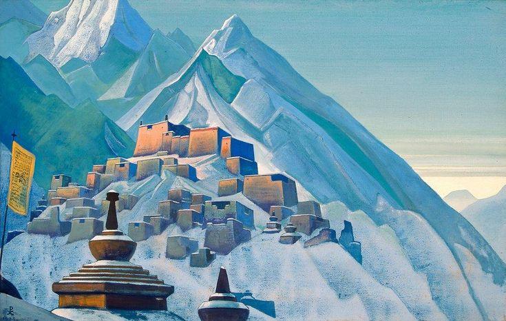 Николай Рерих. Галерея картин художника - Тибет. Гималаи, 1933