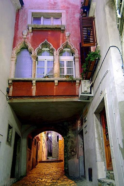 Beautiful, old world architecture on a side street in Piran, #Slovenia #travel