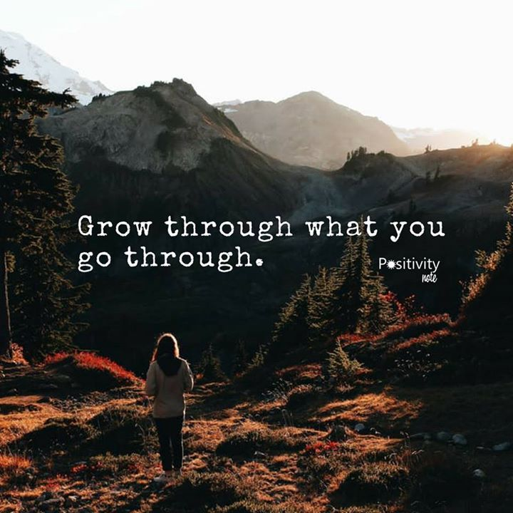 Grow through what you go through. #positivitynote #positivity #inspiration
