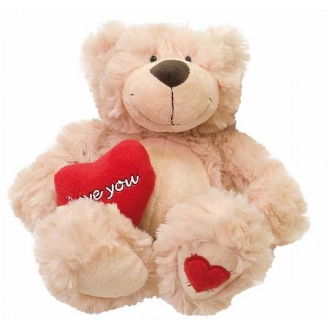 Kleurrijke pluche mascotte met een hart 'love you'. Deze zachte teddybeer vriend zal er altijd voor je zijn. Scotty de beer is gemaakt van hoogwaardig materiaal. Scotty de beer voelt lekker zacht en knuffelig aan.
