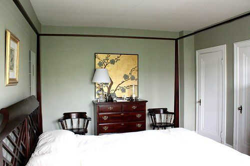 """Sophisticated Comfort House Tour Artwork: Panteek Prints, clocks through ebay Paint: Living Room wall paint is Farrow & Ball """"Farrows Cream"""", Hallway is Farrow & Ball """"Yellow Ground"""", Bedroom is Farrow & Ball """"French Gray"""" and Kitchen is Duron """"Candleglow"""""""