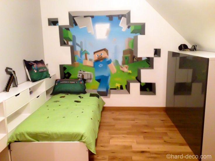 Cool Minecraft Stickers | Magnifique déco de chambre sur le thème du jeu Super Mario Bros ...