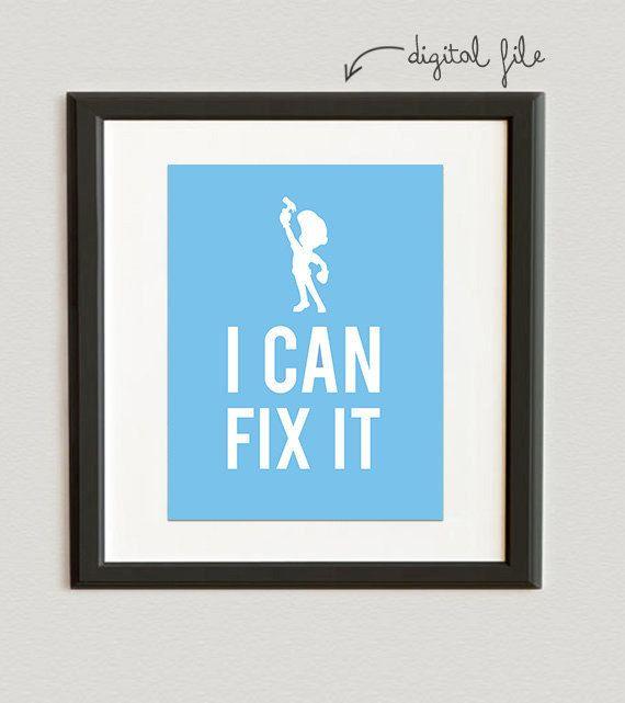 DIGITAL FILE // I Can Fix It Fix It Felix Jr by PeppermintPaperie