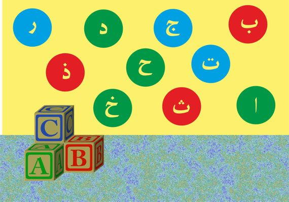 Arabic Alphabet Circles Wall Decal (Complete Arabic Alphabet) 20% OFF code: lovepinterest