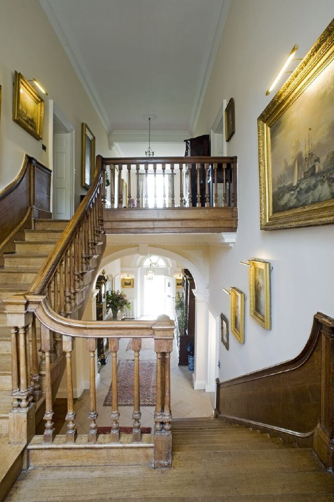 The staircase awaiting the steps of the guests, if only the walls could talk - Iscoyd Park