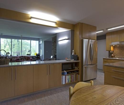 Contemporary Galley Style Grey kitchen, maple/beach cabinets, $50,000 - $100,000, Braitman Design/Build, DC Metro