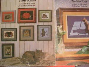 See Sally Sew-Patterns For Less - Nine Lives Cat Kitten Cross Stitch Judy Nason Design Charts Needlework Art  Book 22, $8.99 (http://stores.seesallysew.com/nine-lives-cat-kitten-cross-stitch-judy-nason-design-charts-needlework-art-book-22/)