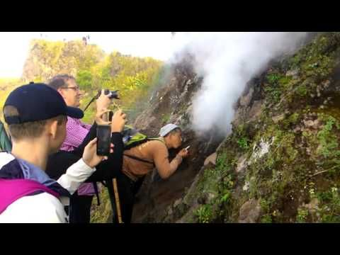 Hot Steam at Peak of mount Batur - Bagus Bali Sunrise Trekking - YouTube