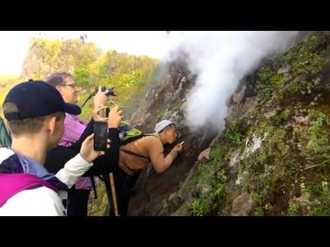 Hot Steam at Peak of mount Batur - Bagus Bali Sunrise Trekking - YouTube