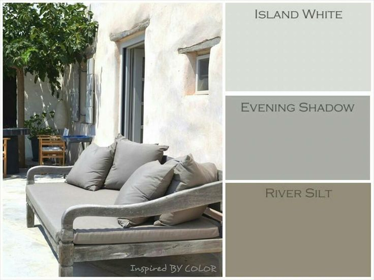 island white, evening shadow, river silt