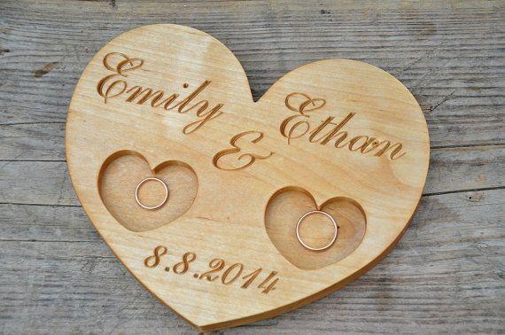 Personnalisé anneau bois boîte bague de mariage par KlikKlakBlocks