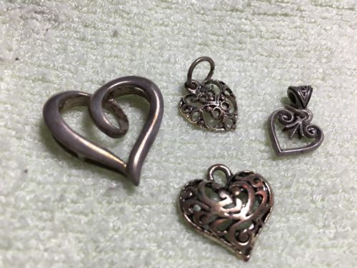 Vintage-Silver-Heart-Pendants-Charms