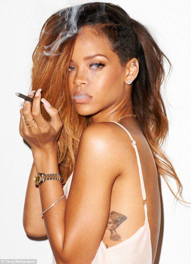Smoking hot: Rihanna
