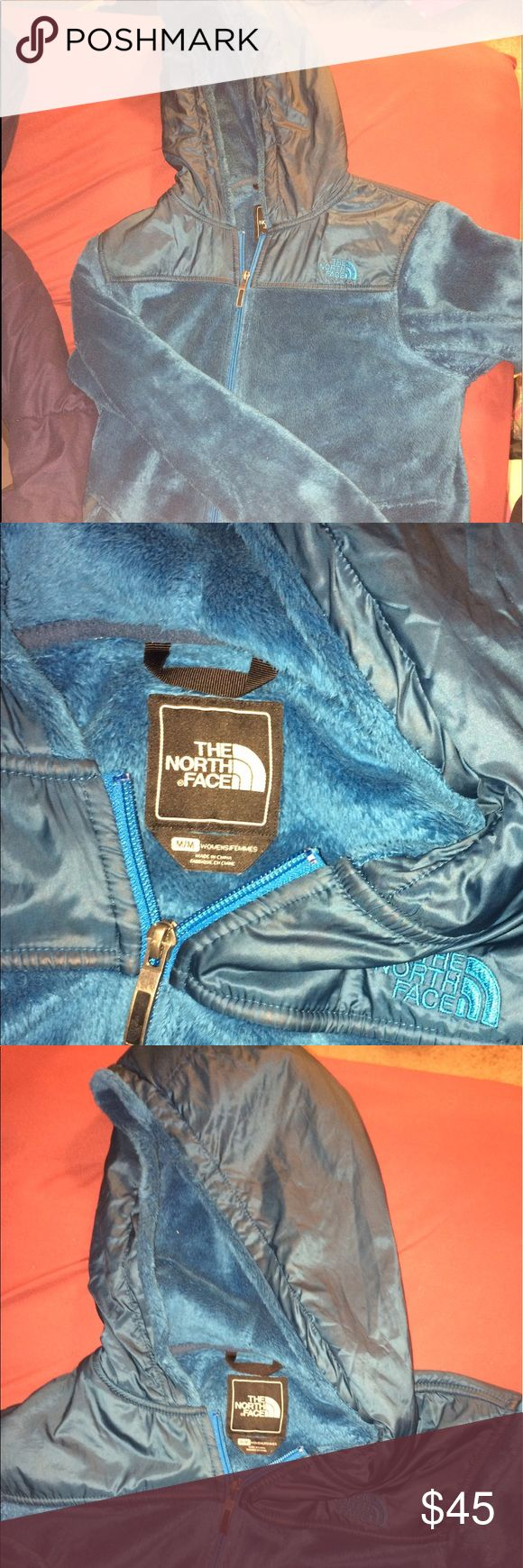 North Face Jacket Great Condition Blue North Face Fleece Jacket with hood! Moving south and have no use for it. North Face Jackets & Coats
