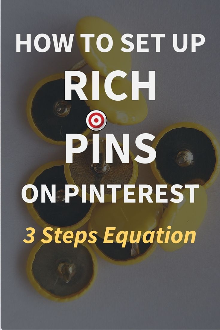 """How To Set Up """"Rich Pins"""" on Pinterest? 3 Step Equation  Pinterest is a visual search engine and it is one of the most powerful ways to generate traffic and grow your blog or business but only if it is used strategically. And one of the strategic approaches you must do to stand out from the crowd is to set up Rich Pins on Pinterest.   Click Through To Read The Full Post>>>"""