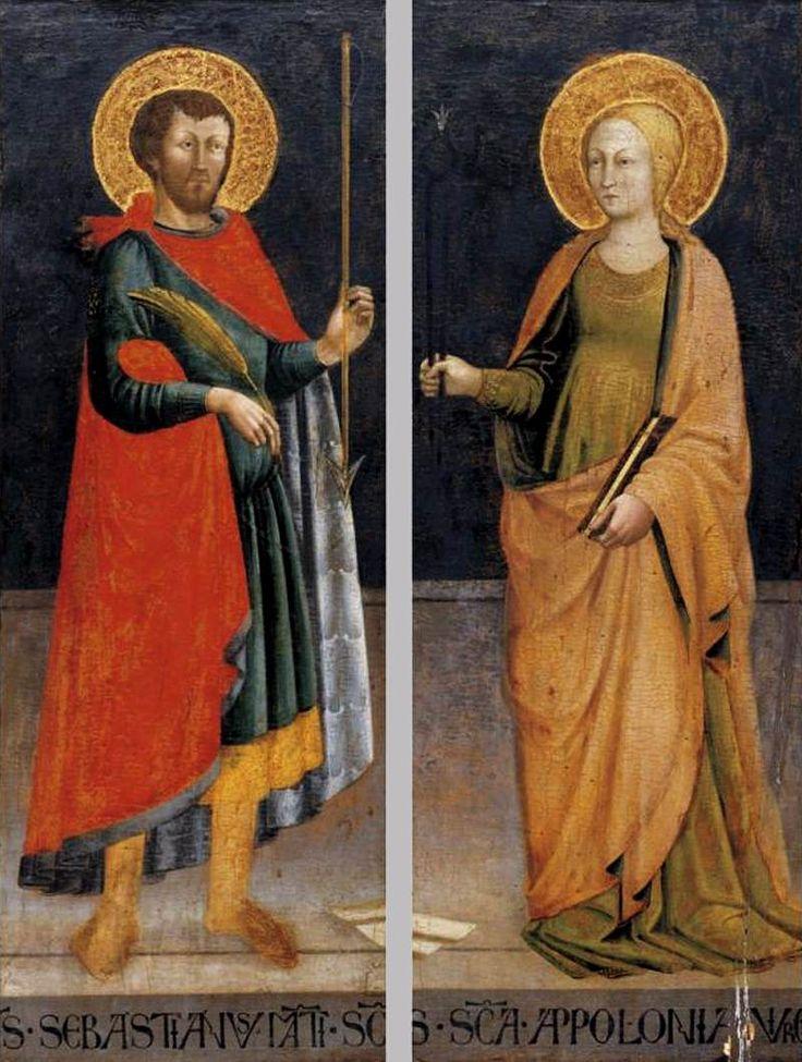 Neri di Bicci - Sts Sebastian and Apollonia - WGA02169 - Category:Neri di Bicci - Wikimedia Commons
