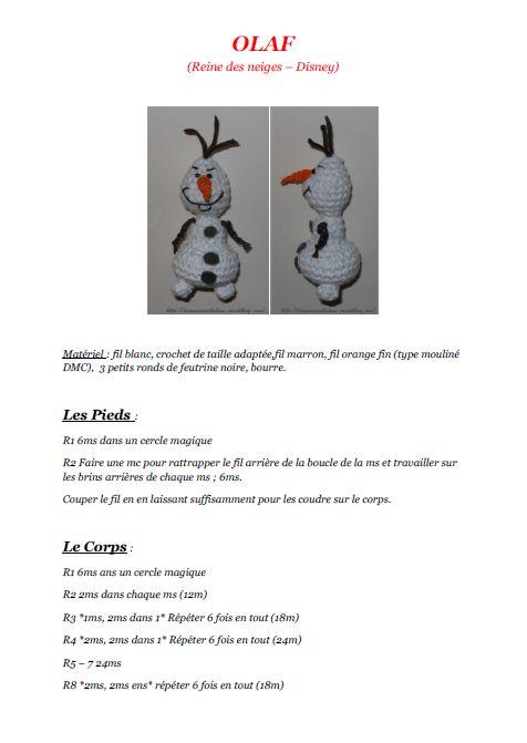 Calendrier de l'Avent #4 La Reine des Neiges & Olaf : les tutos gratuits au crochet - Tout un Fil