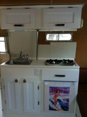 Wood panel door boler kitchen.