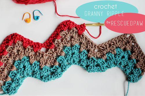 Granny Ripple Stitch Tutorial: How To Do The Granny Ripple {Crochet Tutorial} Easy Guide