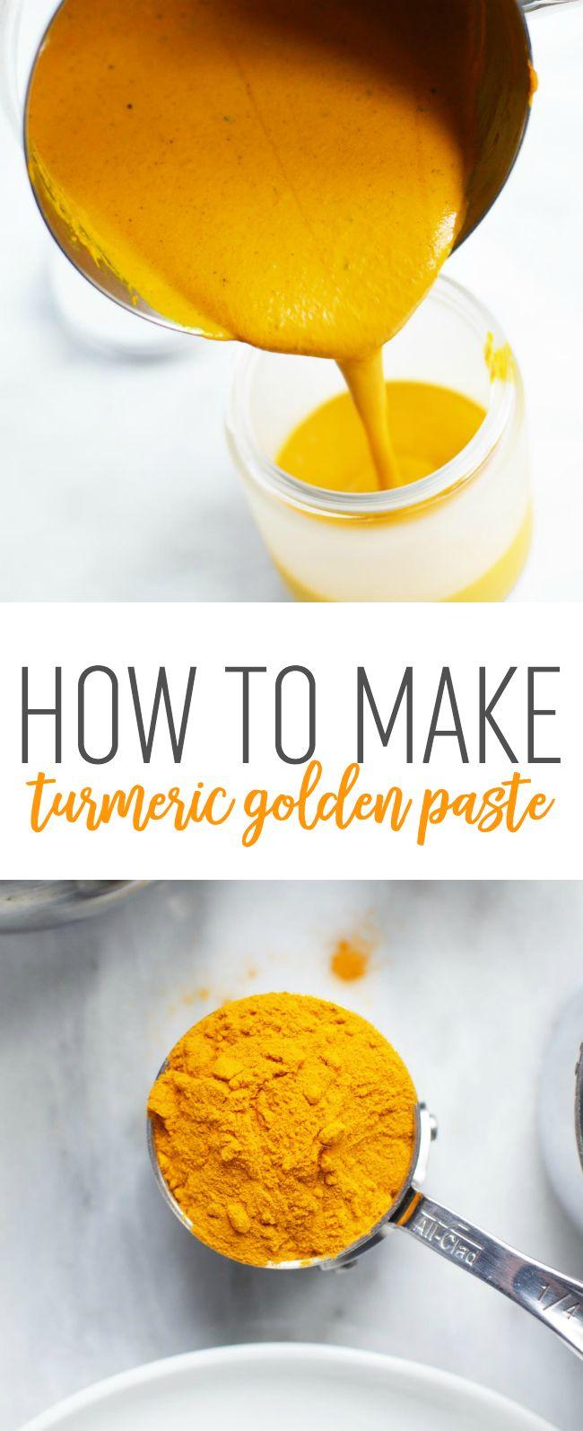 DIY Turmeric Golden Paste - How to make turmeric golden paste and how you can use it to make healthy golden milk!