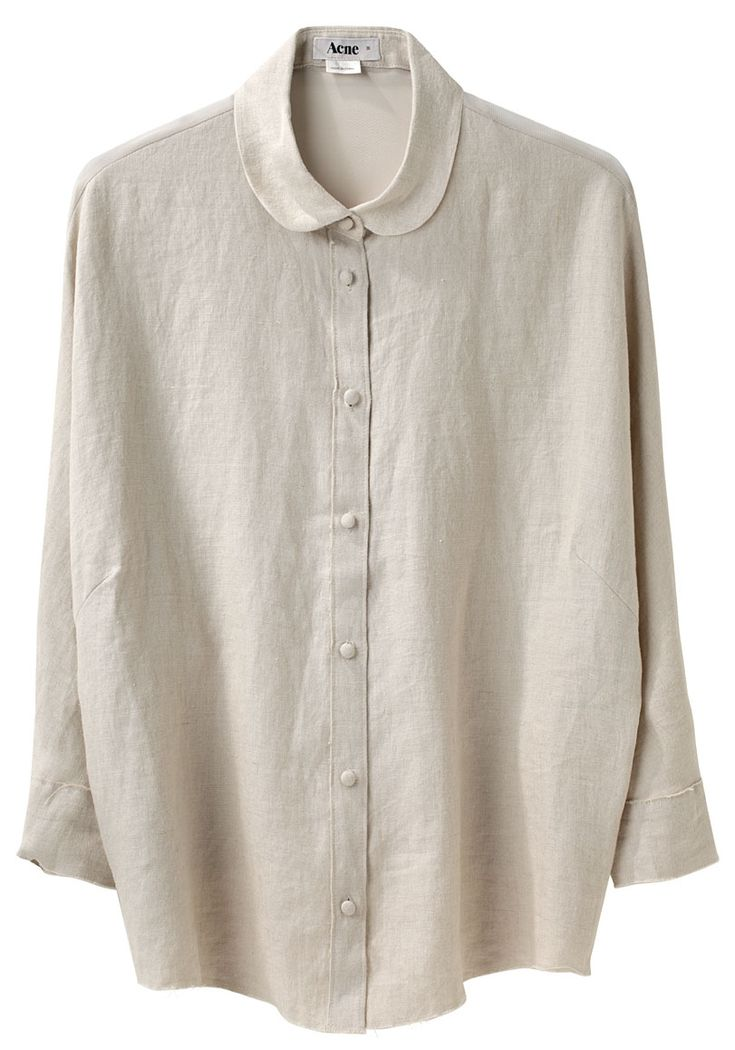 ღA MUST SEWღ i have this one, but the collar is not the same; turn it into a wider Peter Pan collar that follows a shallow scoop neck instead. LINEN SHIRT