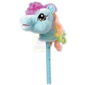 Born To Play My Little Pony Stick Pony Hobby Horse  Cute and colourful My Little Pony stick pony Squeeze the ears to hear her talk and sing Also has  http://www.comparestoreprices.co.uk/childrens-gifts/born-to-play-my-little-pony-stick-pony-hobby-horse.asp