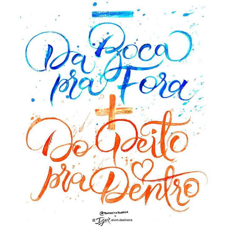 "Igor Alvim da Silveira on Instagram: ""Minha caligrafia nessa grande poesia de @tentativapoetica ✌✌✌ #caligrafia #calligraphydaily #calligraphymasters #calligraphy #watercolor #fashion #trend #quotes #frasesdodia #frases #poesia #poesianoolhar #tentativapoetica #quote #letteringco #lettering #brush #typism #typelove #type #typography #thedailytype #goodtype #love #showyourwork #showyourstype #typografi"""