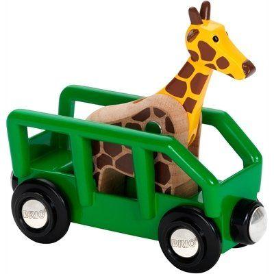 Brio Giraffenwagen 33724. ?Dieser Giraffenwagen sorgt für noch mehr Spaß bei deinem Schienen-Abenteuer. Die Giraffe passt perfekt in den Wagen und kann den Hals auf und ab bewegen.  http://www.briobahn.ch/brio-eisenbahn-giraffenwagen-33724.html