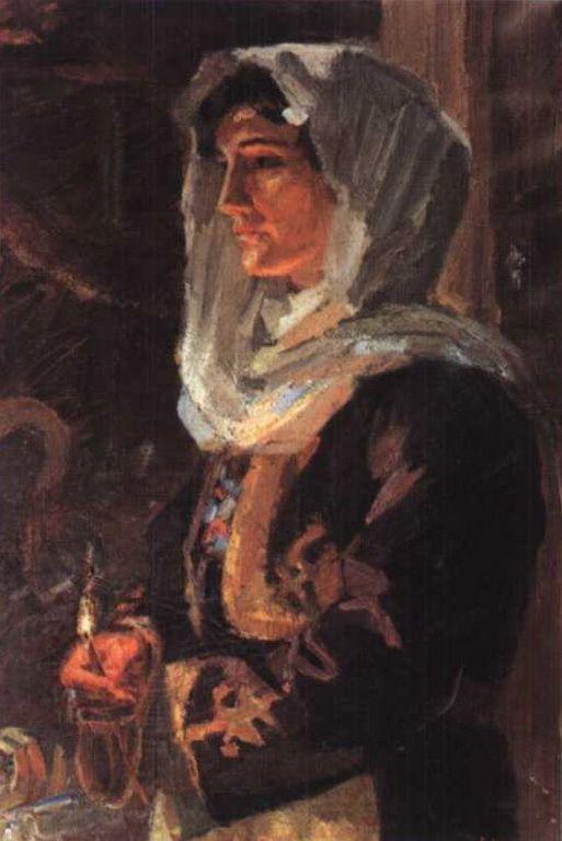 Χατζημιχάλη Αγγελική – Aggeliki Hantzimichali [1895-1965] Αυτοπροσωπογραφία