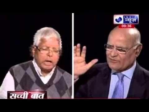 Sachi Baat: Lalu Prasad Yadav on the television show 'Sachi Baat' with Prabhu Chawla