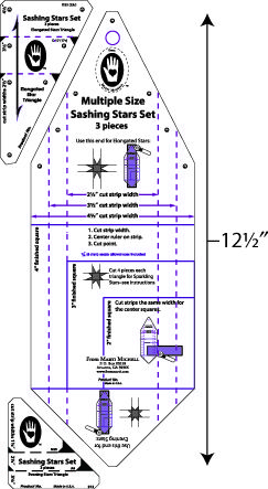 quilters rulers and templates - sashing stars set quilting pinterest patchwork