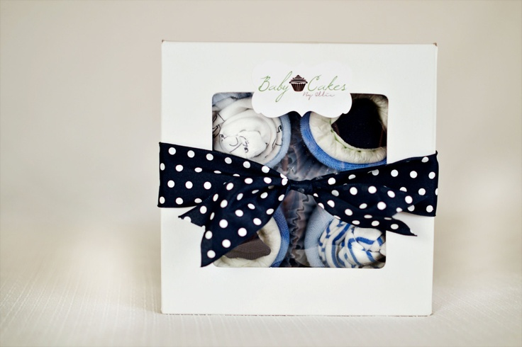 Nautical Themed Baby Cakes By Ellie... More Styles Available on Etsy! Navy and Teal BabyCakes. $25.00, via Etsy.
