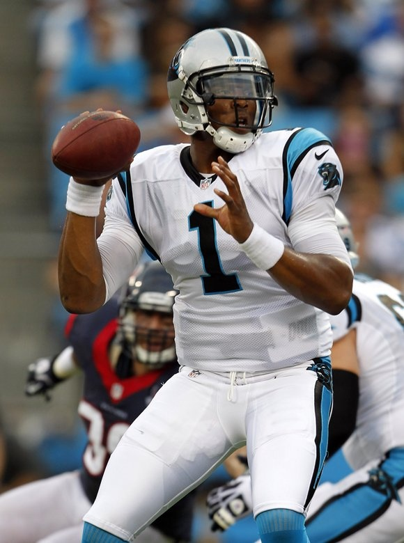 Cam Newton vs Houston Texans 8-11-12