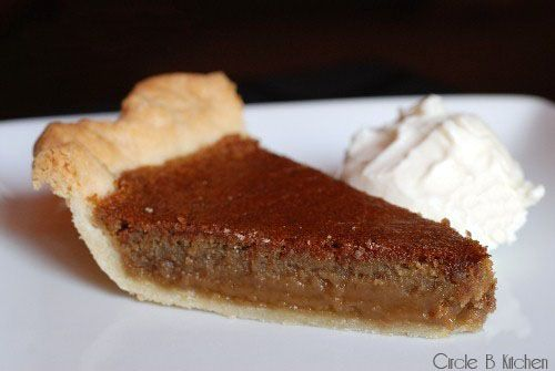 ---Brown Sugar Pie---    (Makes one 9-inch pie)  2 cups firmly packed brown sugar  2 eggs, slightly beaten  2 teaspoons vanilla  4 heaping tablespoons flour  6 tablespoons milk  4 tablespoons melted butter  1 disk pie dough (homemade or store-bought, here's my recipe)  Heavy cream or vanilla ice cream