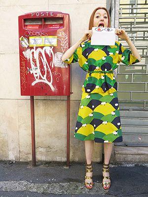 Wait and See presents  PETER JENSEN top and skirt  BESPOKE BELLEROSE belt PARIS TEXAS shoes