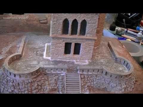 Splitt- und Schotterflächen im Modell darstellen - am Beispiel des Vampisol Tillyschanzendioramas - YouTube