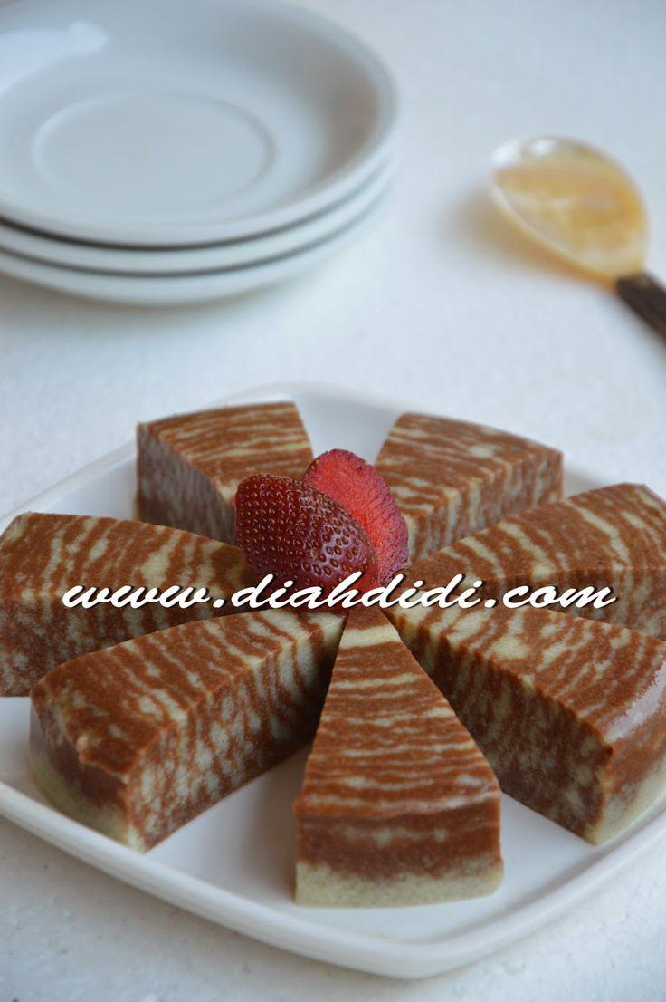 Diah Didi's Kitchen: Puding Roti Zebra Nan Lembut