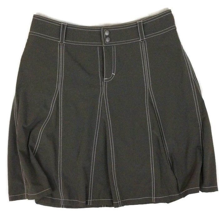 ATHLETA Whatever women's athletic skort brown skirt shorts hike, travel size 6 #Athleta #SkirtsSkortsDresses