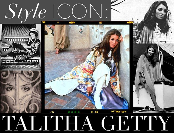 """Olivia Palermo's Ode to Talitha Getty: he was innovative in her use of ethnic garb — caftans, Balinese wraps, and Moroccan djellabas adorned with mountains of middle-eastern costume jewelry while accessorizing with gladiator sandals (or no shoes at all) and crowns of flowers in her hair.  With her exotic ensembles and exuberant personal style, she initiated an entirely new genre of fashion titled """"gypset"""", (gypsy + jet-setter), forever solidifying her spot as a fashion icon."""