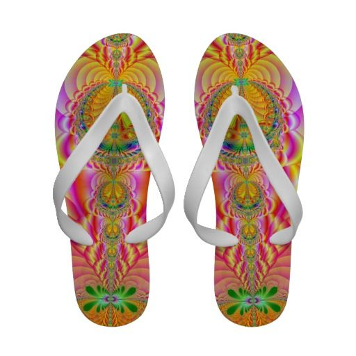 colorful fractal sandals