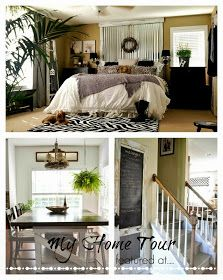 This is a blogger's home tour. She takes salvaged pieces, lumber & paint & turns them into works of art! She has so many tips & tricks on her blog. Down To Earth Style.