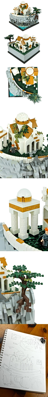 Chiesa con tempietto, arroccata sulla scogliera Architettura di tipo orientale/bizantino LEGO