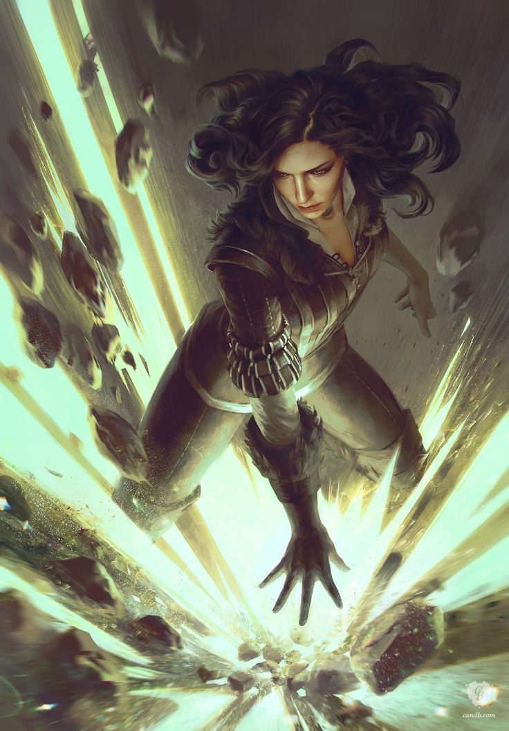 Yennefer: The Summoner is an official concept artwork for The Witcher 3: Wild Hunt, the video game created by CD PROJEKT RED. The artist that made this ima