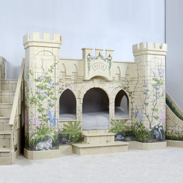 Indoor Fairy Tales: Beds Shaped Like Castles for Young Ladies