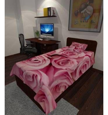 Заказать покрывало с фотопечатью «Розы» с индивидульным размером, из ткани на выбор