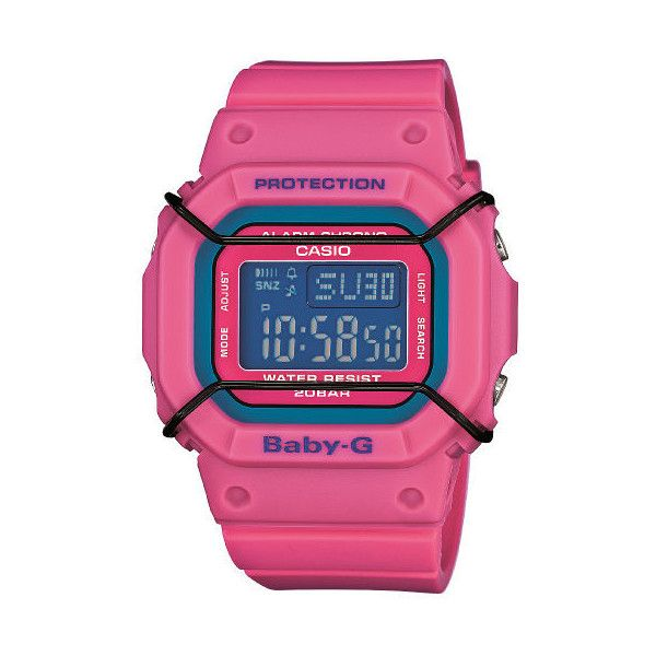Casio Baby-G Women's 35mm BGD501-4D Digital Watch ($92) ❤ liked on Polyvore featuring jewelry, watches, casio watches, digital watch, pink jewelry, casio and pink digital watch