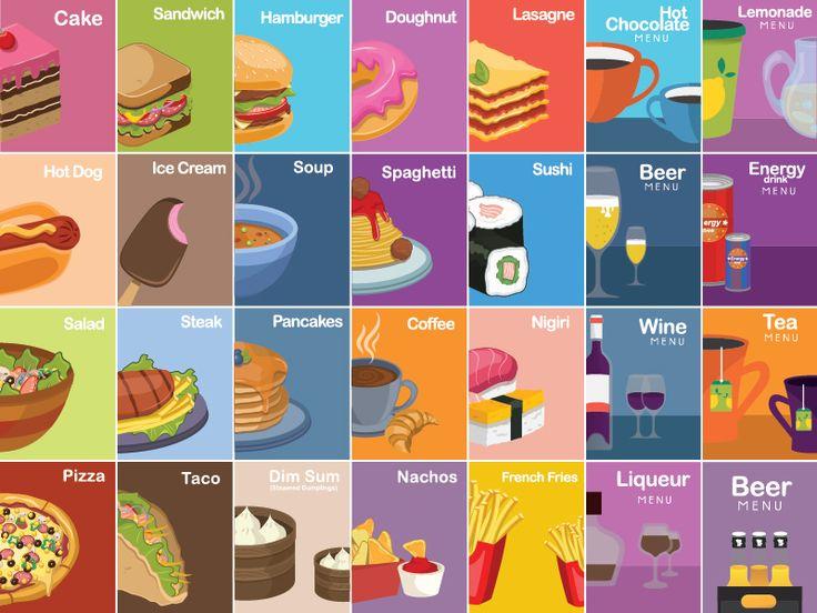Set of food&drink icons by Kubanek Csaba